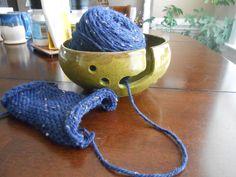 Olive Green Yarn Bowl by KandLStudios on Etsy
