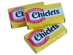 'Chiclets' werden in 1906 geïntroduceerd. Meteen was dit de allereerste kauwgum. De originele smaak was pepermunt. Ondertussen is deze kauwgum er in verschillende smaken. Kauwgum was in Amerika al lan