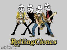 Rolling Clones T-Shirt - http://teecraze.com/rolling-clones-t-shirt/ -  Designed by LilloKaRillo    #tshirt #tee #art #fashion #TCRZ #clothing #apparel #StarWars