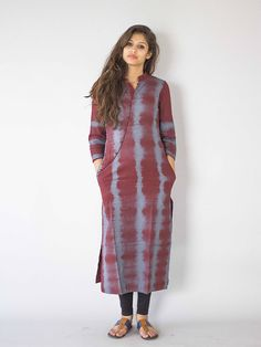 Description: It is a long kurti, with beautiful curved neck line and tie and dye…