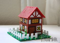 3D House hama beads by Hama gifts