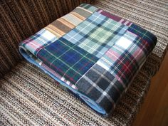 "Pendleton patchwork by susanstars, via Flickr What a great idea to recycle moth eaten ""was good"" clothes!"