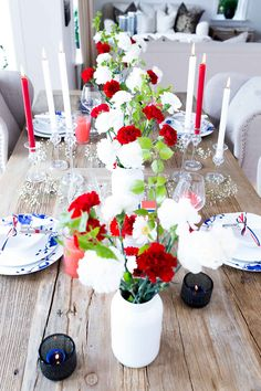 Home Of The Brave, Holidays And Events, Fourth Of July, Tablescapes, Tea Cups, Product Launch, Table Decorations, Party, Blog