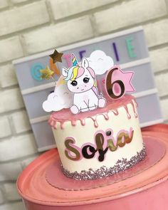Bolo My Little Pony, My Little Pony Songs, Happy Birthday Woman, Happy Birthday Printable, Traditional Wedding Cakes, Paper Cake, Drip Cakes, Party Cakes, First Birthdays