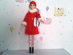 Barbie doll clothes Barbie CHRISTMAS outfit by ChristmasLightsShop