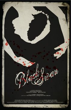 Black Swan movie poster stylized grunge