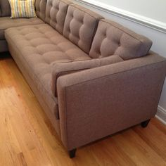 New sectional: Yippee! Younger Furniture's Mercer sectional. Hand-made in NC.