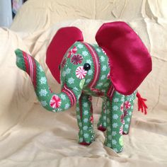 Plush Holiday Christmas Elephant Green With by MercurialCat