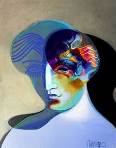 Red Curls Painting by Victor Tkachenko Acrylic Painting Canvas, Canvas Art, Red Curls, Original Paintings, Original Art, Unusual Art, Fantasy Artwork, Figurative Art, Female Art