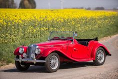 Believed delivered new to Verviers, Belgium,1954 MG Midget TF Roadster Chassis no. HDE33/3712 Engine no. XPAG/TE/33338