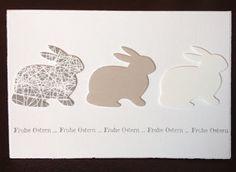 """Ostern, Stanze """"Grand Bunny"""" von poppystamp, """"Frohe Ostern"""" von Flamingo Art"""
