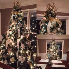 #christmastree #goldandcreamchristmastree #christmastree2015 #janashatbox