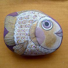 #painted #rock #stone by Stone Jane | Rybí hraběnka