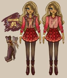 """princeivy-storybook: """"Ruby Gracious Charming - Daughter Of Cerise Hood & Daring Charming With embroidered rose details and her wolf characteristics, Ruby is ready to start a new chapter and an adventure at Ever After High by Prince Ivy """" Changed the..."""