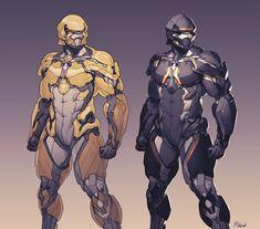 ArtStation - PHANTOM modular armour, Moh Z. Mukhtar