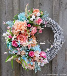 Country French Cottage Garden Wreath