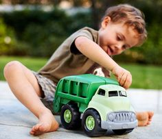 Green Toys Recycle trucks for toddlers and small kids