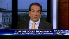 Krauthammer: GOP Should Stonewall on SCOTUS