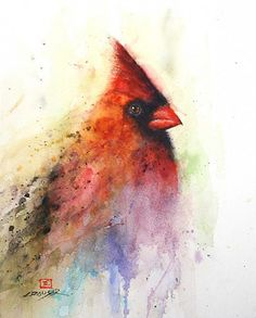 A Dean Crouser watercolor painting of a red cardinal bird, a beautiful choice fo. - A Dean Crouser watercolor painting of a red cardinal bird, a beautiful choice for tattoo design for - Red Cardinal Tattoos, Cardinal Birds, Watercolor Bird, Watercolor Animals, Watercolor Paintings, Bird Paintings, Watercolor Tattoos, Painting Tattoo, Watercolor Design