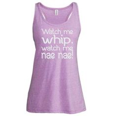 Watch Me Whip Watch Me Nae Nae Tank in Metallic Silver Vinyl Birthday... ($18) ❤ liked on Polyvore
