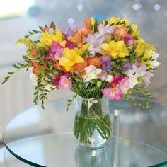 Blumen Tischdeko-entdecken Sie die Freesien als eine schöne Dekoration