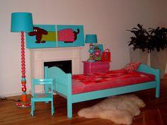 by user bed in 3 4 beds forward brocante bed in vrolijke kleuren ...