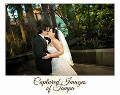 Wedding Portraits taken in the wetlands area at the Florida Aquarium - Captured Images Blog