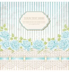 Vintage card with roses vector - by sticknote on VectorStock®