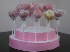 Cake Pop Holder Ideas | cake pop stand. This is holding about 24 cake pops (for basic cake ...