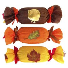 Unwind colorful crepe paper ribbon to discover 12 Thanksgiving prize keepsakes toys gems treasures gift party favors! Handmade USA - adults, kids, corporate.