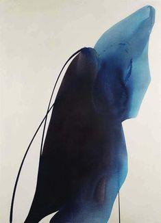 'Phenomenia Bearer Of Blue' Abstract Painting By Paul Jenkins #art