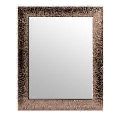 Textured Pewter Framed Mirror, 29x35