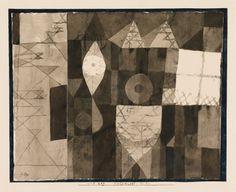 Helldunkel - Studie (Chiaroscuro study), 1921 Paul Klee