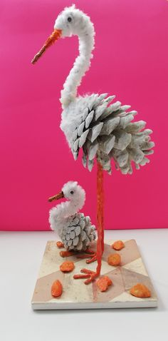 Diy Arts And Crafts, Creative Crafts, Hobbies And Crafts, Fall Crafts, Wood Crafts, Crafts For Kids, Paper Crafts, Diy Crafts, Pine Cone Art