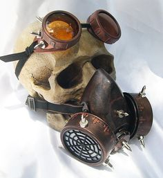 Steampunk Steam Punk Mask + Vintage Glasses Goggles. Rock Cosplay Gas Mask Respirator Costume Diesel Cyber punk(China (Mainland))