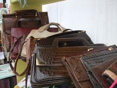 Vintage bags at Hay Does Vintage, Hay-on-Wye