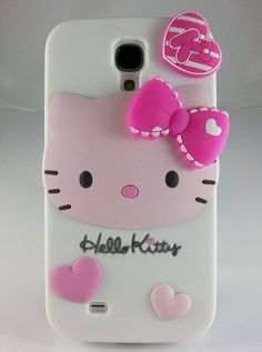 98fda2b3345 3 D fascinating Hello Kitty impact silicone cover for Samsung Galaxy S4  Cell Phone Covers