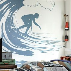 Surfer Decal #pbteen Perfect for my sons surf bedroom!!