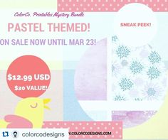 Get your pastel themed April mystery box now!! I am contributing an EXCLUSIVE kit again this time around. Check out the $20 value bundle for only $12.99! The link is in my bio. #plannerjunkie #plannernerd #planner #erincondren #ecstickers #weloveec #mysterykit by violetpaperprints