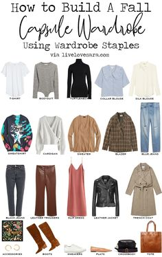 Capsule Wardrobe Essentials, Fall Capsule Wardrobe, Wardrobe Staples, Wardrobe Basics, Basic Outfits, Casual Outfits, Leather Jacket Dress, Clothing Staples, Fall Fashion Outfits