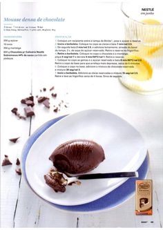 Revista Bimby - Junho 2015 No Bake Desserts, Dessert Recipes, I Companion, Chocolate Factory, What To Cook, Easy Cooking, Bakery, Food Porn, Tasty