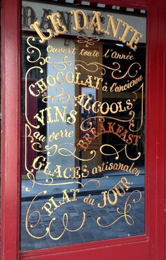 The windows of Paris - Fleaing France Brocante Society Lettering, Typography Design, Boutiques, French Cafe, French Bistro, French Country, I Love Paris, Paris Travel, Restaurants