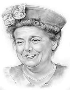 Aunt Bee {Beatrice Taylor of The Andy Griffith Show} by gregchapin on deviantART ~ actress Frances Elizabeth Bavier ~ artist Greg Joens