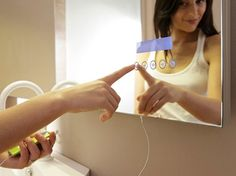 Touch mirror for your iPod! Awesome #technology #home #design