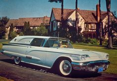 This is the 1958 Thunderbird Sedan Delivery I wish I could deliver my art in. Porthole windows from the '57 2-seater would have been used in the pillars in the rear for some carryover panache.
