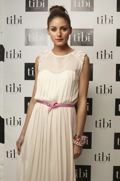 lovely Olivia Palmero thinking pink with her creative outfit