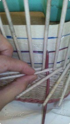 Мастер-класс Плетение Маленькая подсказка или как я заканчиваю послойку   Трубочки бумажные фото 1