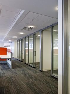 KCIC- Washington DC- Haworth Enclose  Wall Panel and Sliding and Pivot Glass Door System for front office / entry