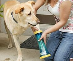 NEED! Dog Paw Wash Tool http://www.thisiswhyimbroke.com/dog-paw-wash-tool