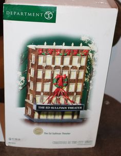The Styrofoam is in decent shape, it still protects the theater just fine. The outer paper cover is in rough but usable shape. Christmas In The City, Department 56, Paper Cover, Theater, Shapes, Holiday Decor, Box, Home Decor, Snare Drum